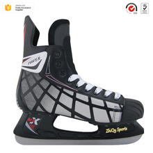 Cheap price Most Luxury model Customizable Durable and comfortable fix sizes adults and teenagers used ice rink ice hockey shoes