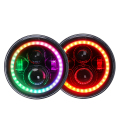 Best RGB 7 inch Round LED Headlight for Jeep Wrangler JK