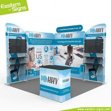 Top quality straight shape aluminum 100% polyester heat transfer printing trade show quick install retail display stands