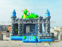 Lovely mini dragon inflatable castle bouncer