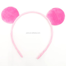 New wholesale cute animal ears fabric covered plastic headbands for children