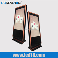wonderful ! 47 inch lcd floor standing all in one pc kiosk booth