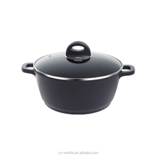 high quality non-stick black prima cookware with tempered glass lid