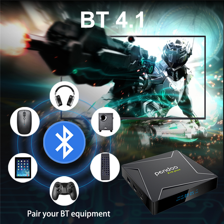 2019 tv box pendoo X10 plus S905X2 4g 32g KD player tv box android 8.1 stb smarT