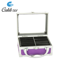 Portable small acrylic briefcase aluminum cosmetic tool box