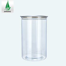 Widepread Use PET Plastic Bottle Chocolate Tin Jar Plastic Easy Open End PET Cans