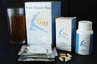 G93 JERNEH White Kidney Bean Plum Flower Tea (1set/30days)