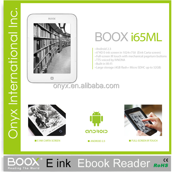 E-ink Technology Infrared Touch Ereader