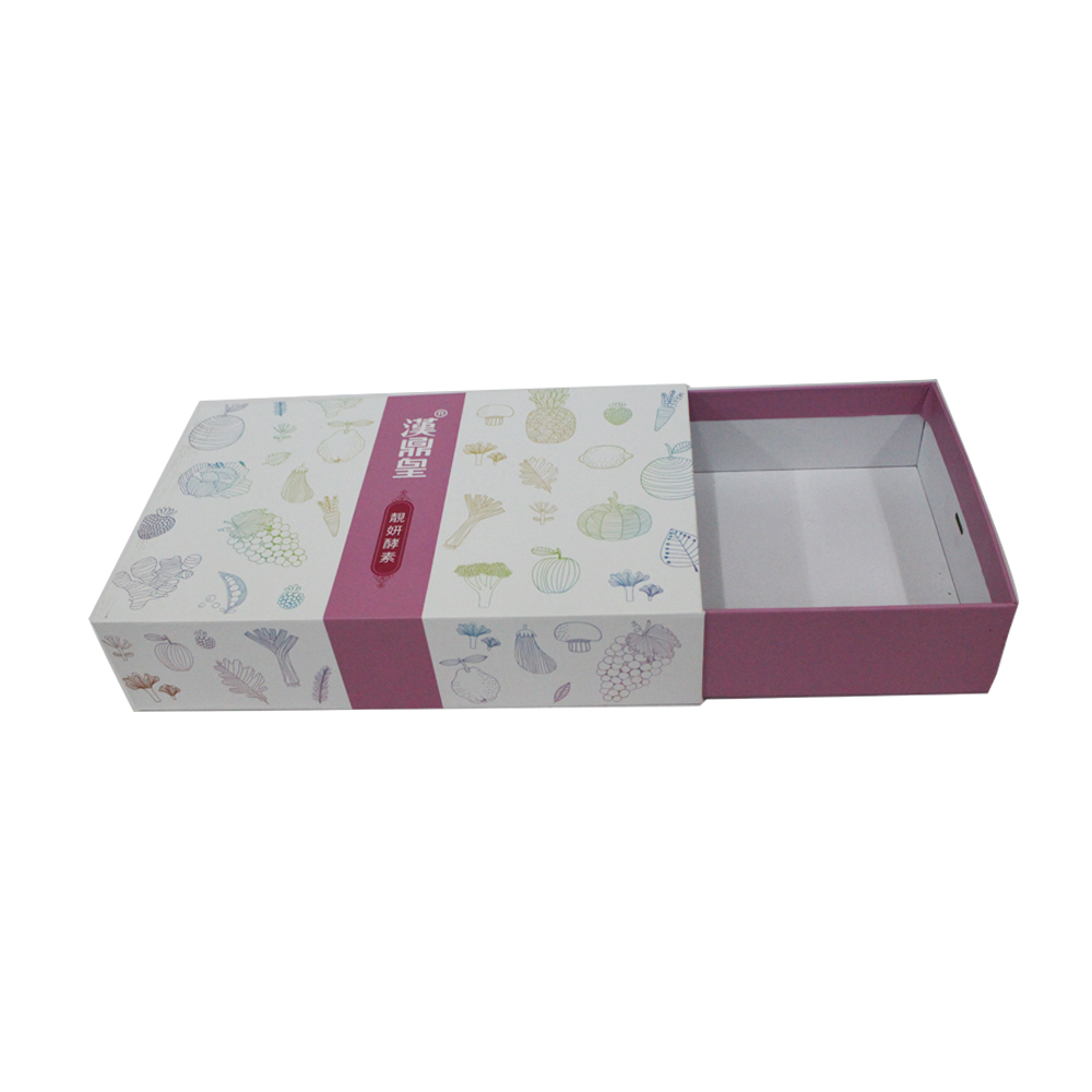 cardboard sleeve and tray box for food packaging