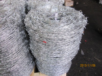 Hot sale barbed wire fence steel wire material ( high quality,cheap)