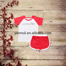 wholesale summer boys clothing 100%cotton tops and shorts cute baby boy clothes