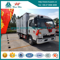 5 Tons Sinotruk HOWO 4x2 Small Cargo Vans for Sale