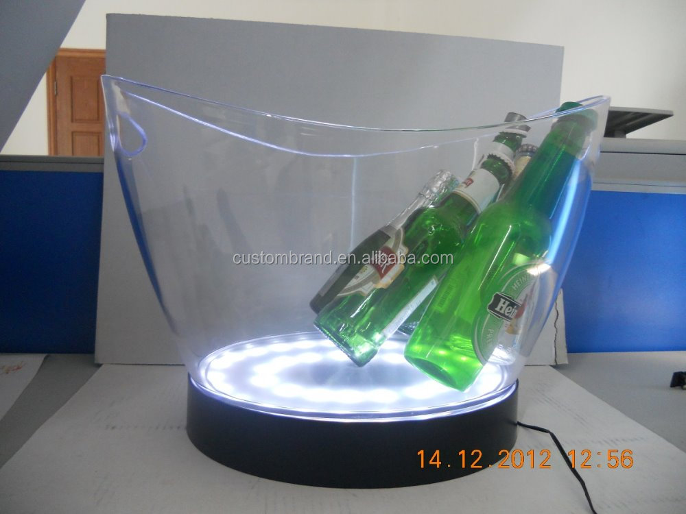 Beer /wine /champagne/vodka cooler LED lighting logo ice bucket