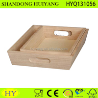 unfinished wholesale Small Size Rectangle Wooden Serving Tray