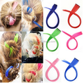Colored Party Highlights Clip on in Hair Extensions Multi-Colors Hair Streak Synthetic Hairpieces
