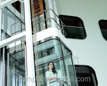 Glass commercial elevators for sightseeing