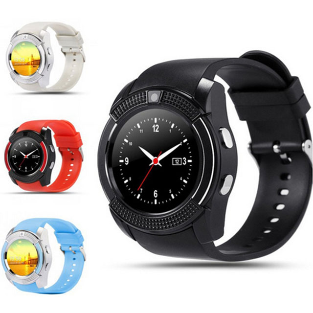 2017 New V8 Smart Watch With Sim Card Round Touch Screen GSM Smart Phone Watch