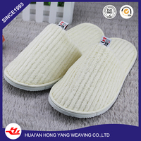 With 15 years experience new design eva draw coral velvet hotel slipper