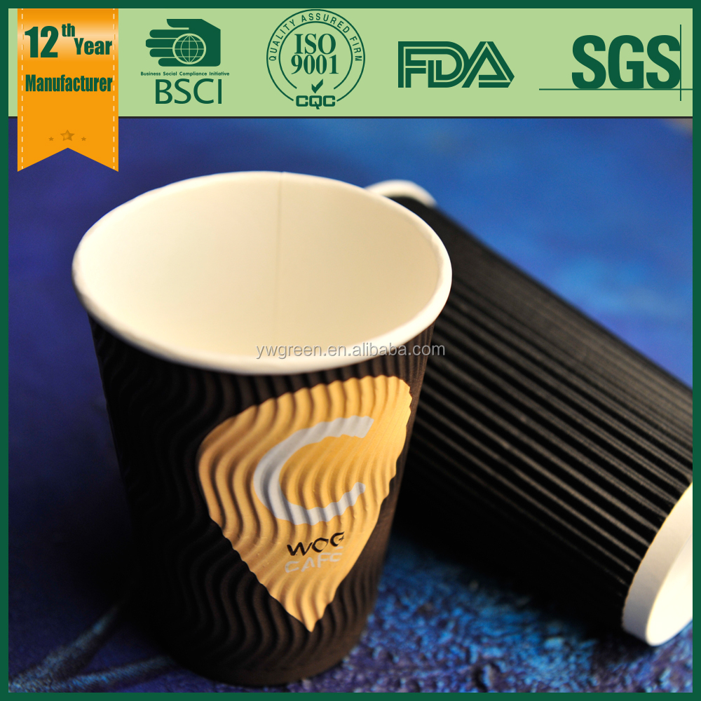 double wall glass paper cup/disposable beer paper cups/paper cup cake paper