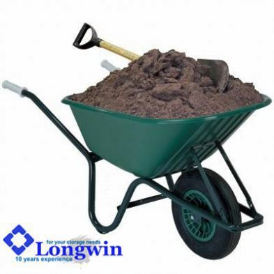 Galvanized motorized wheelbarrow