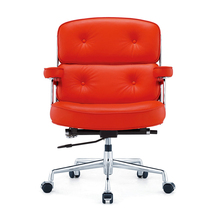 Modern Mid-Back Luxury Swivel computer Leather office task chair