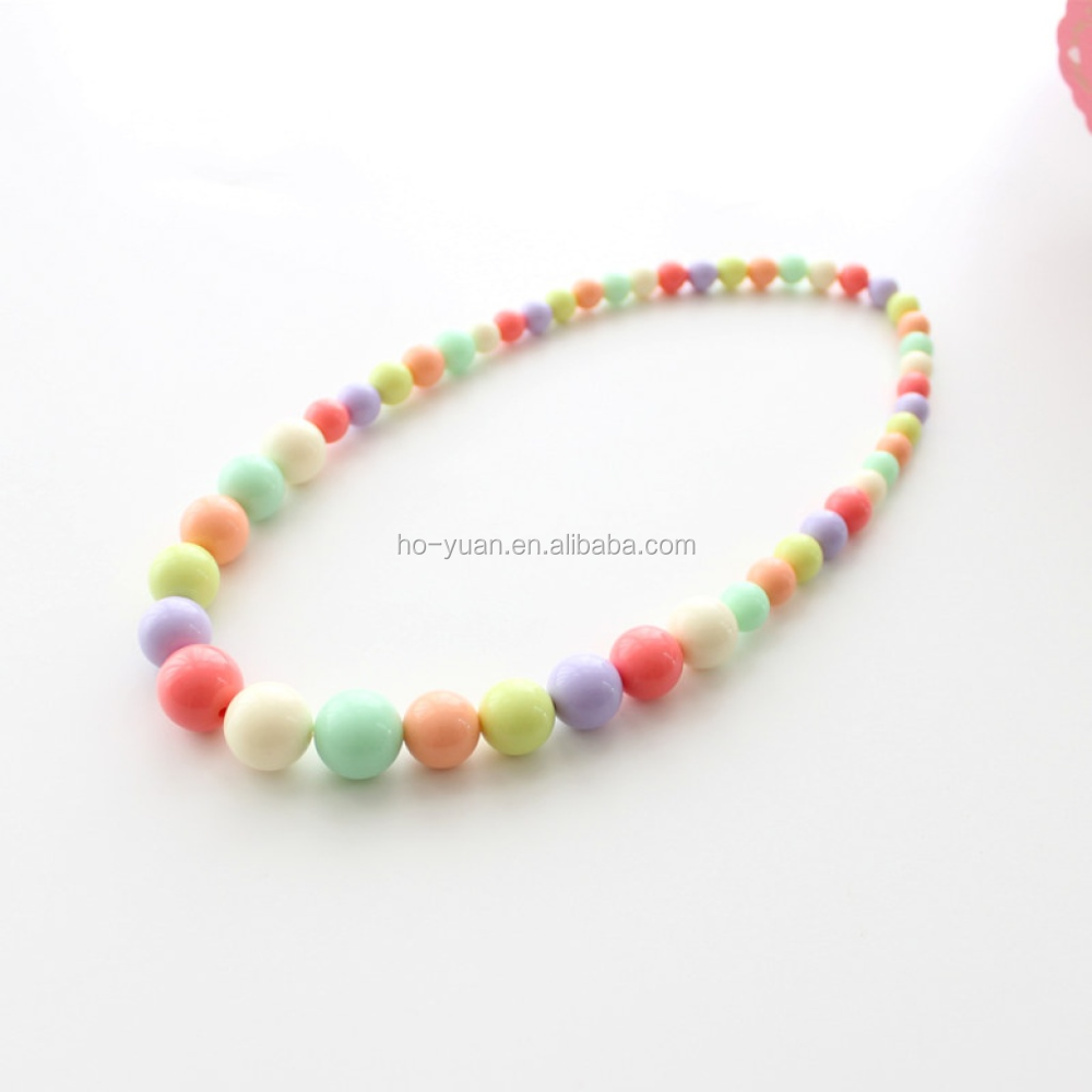 Korean Children Colorful Candy Acrylic Chain Necklace