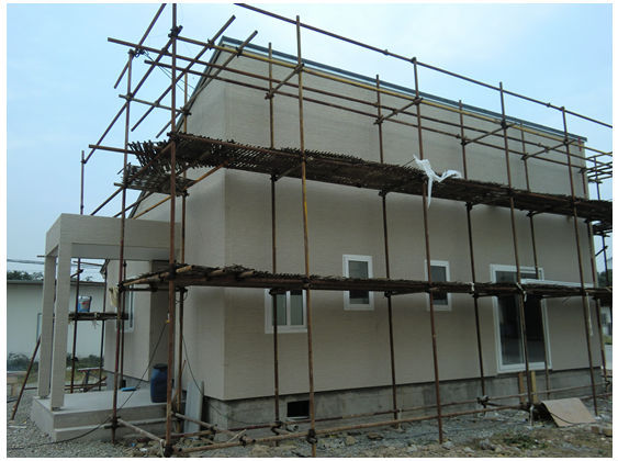 steel structure frame and ready wood house