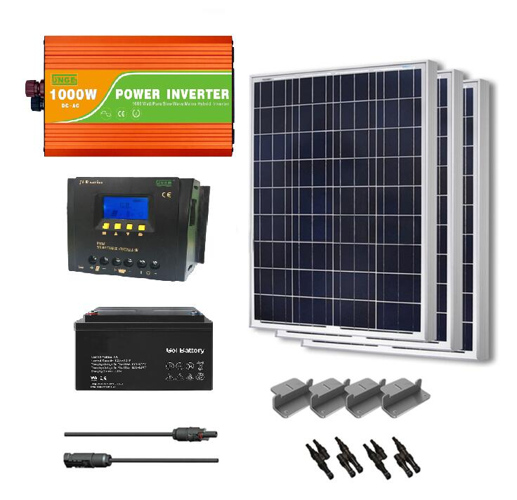 whole home installation 1kw off grid solar system 24v 50a controller