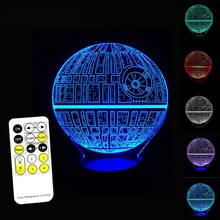 3D Touch USB Table LED Optical Illusion Night light with remote control