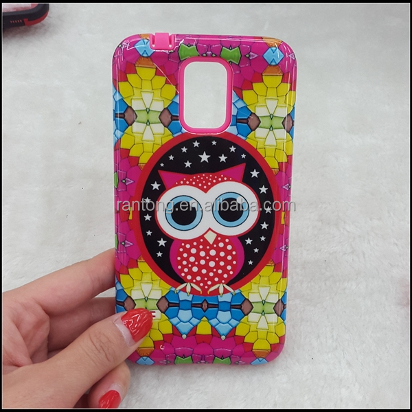 new design TPU+PC cute case for samsung galaxy s4 mini