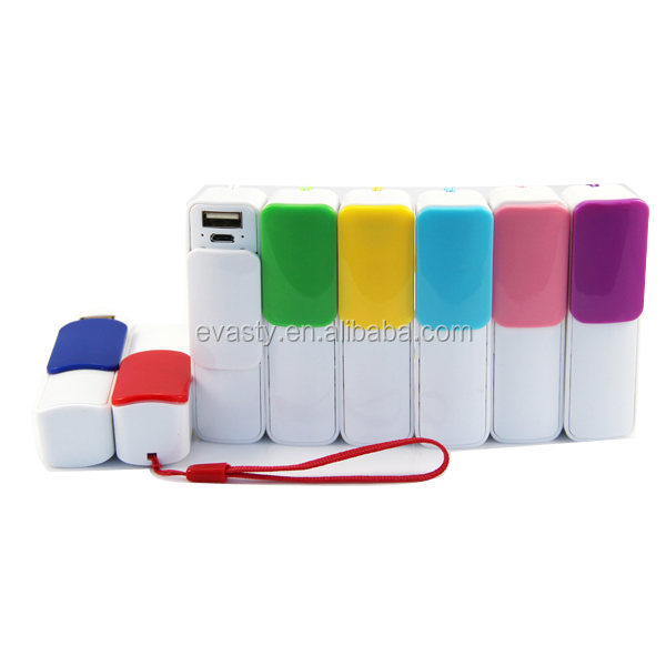 Evasty mobile charger 2600mah mini battery charger power bank charger