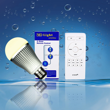 Hot dale home smart led bulb 2.4G wireless 9W LED lamp brightness dimmer +rgbw color change wifi control led home lighting