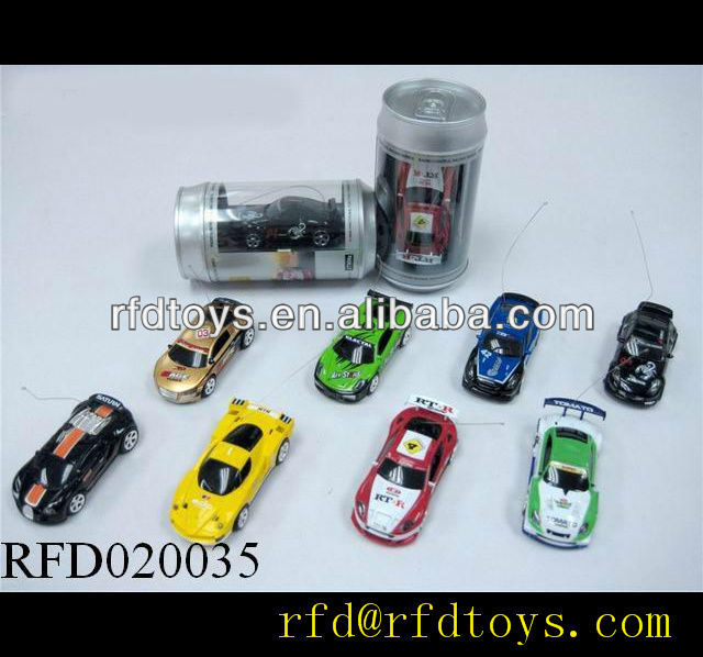 Hot!1:58 4 channel coke tin rc mini car