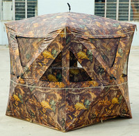 NEW PORTABLE CAMOUFLAGE HUNTING SHELTER AND HUNTING BLINDS for 3 PERSONS HUNTING TENT