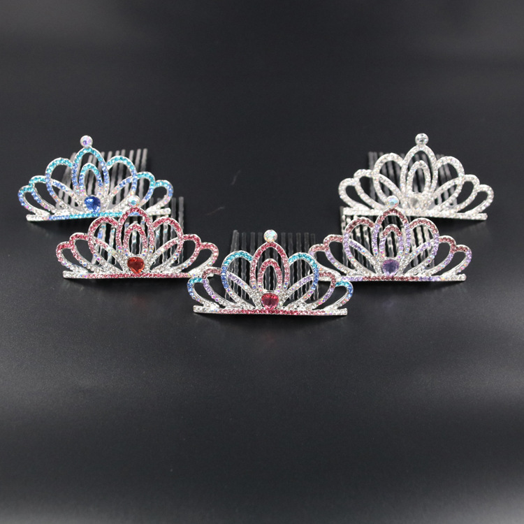Wholesale Cute Princess Kid <strong>Crown</strong> with Rhinestone