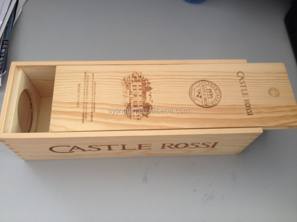 Wooden packing box for red <strong>wine</strong>