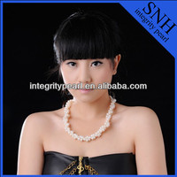 2015 style natural pearl chunky necklace