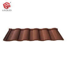 Roofing material types,sand coated steel roof tile