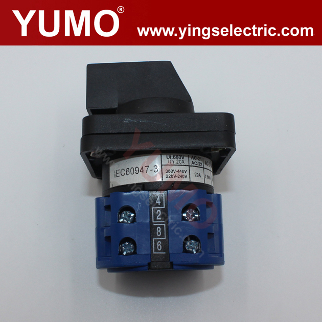 LW28-20 2P 690V 20A 3 positons Universal Changeover Switch Rotary Switch auto change over switch