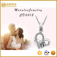 2016 High End Fashion Heart Shaped Pendant Jewelry, Jewelry Bails Charms Pendant