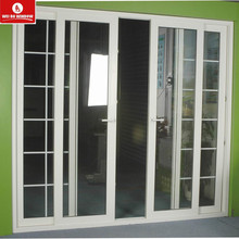 Latest design Plastic frame interior glass French door pvc sliding door