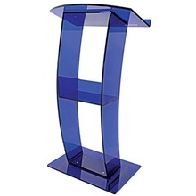 Modern Design Clear Acrylic Plastic Glass Podium Lectern Pulpit