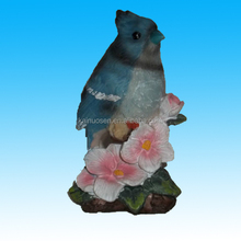 Resin Blue Sitting Bird Figurine