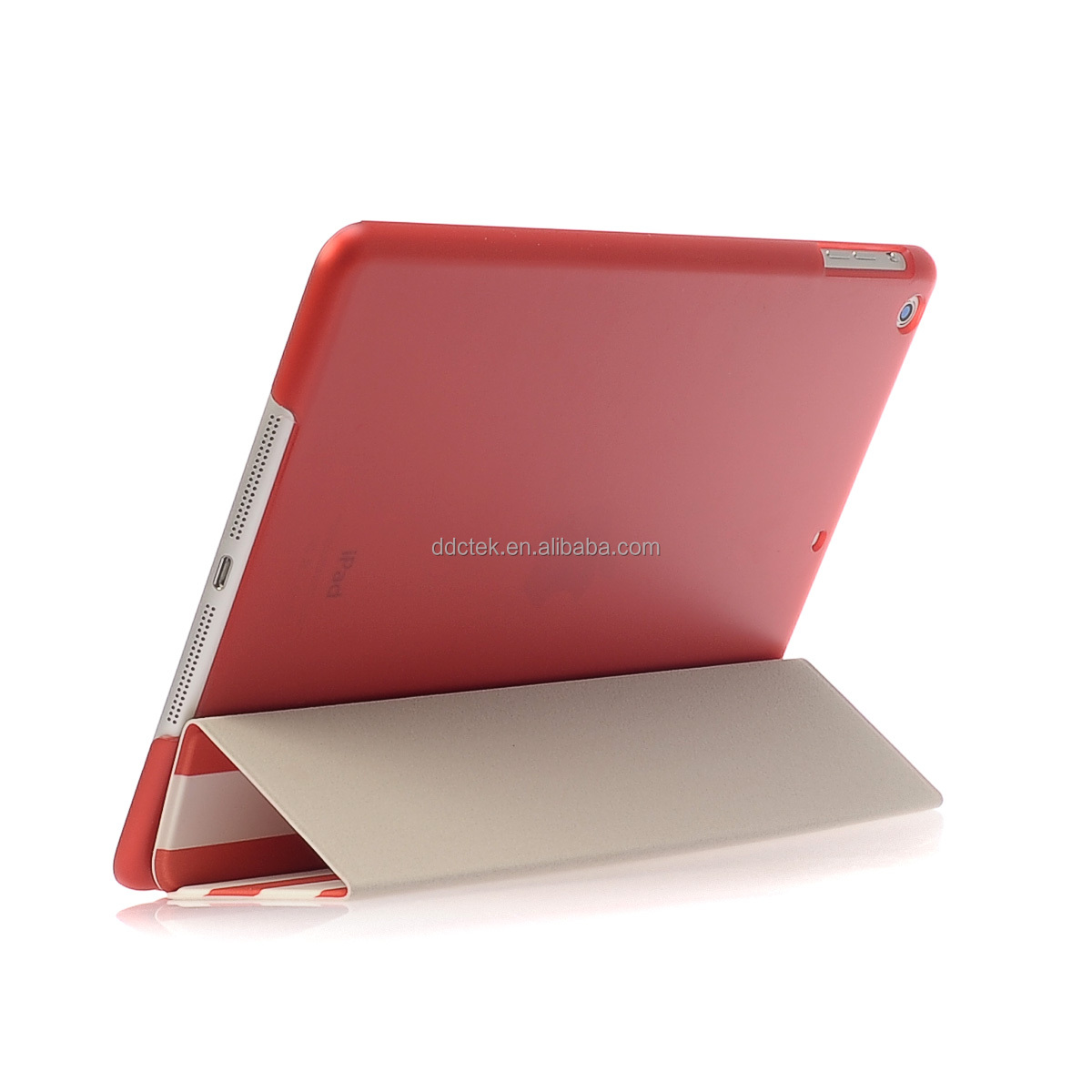 Top quality factory price custom PC PU hard shell cover case for ipad air case for ipad mini case Red