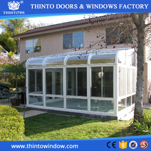Luxury design european style aluminum tempered glass used sunroom for garden