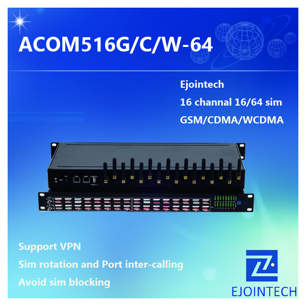 ejoin hot 16 port black VOIP Gateway Products gsm gateway 850/900/1800/1900MHz support sms and mms sending