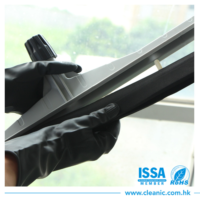 Long aluminum hanlde all parts removable flexible floor mop industrial squeegee