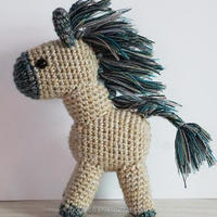 Adorable Handmade Pony Crochet Handicrafts Cartoon