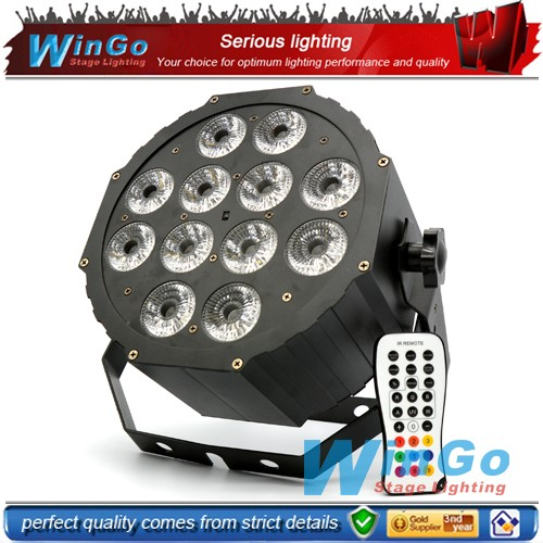 6in1 RGBWA+UV wedding decorate wall wash led par 12x18w Infrared Ray remote control led par stage lighting