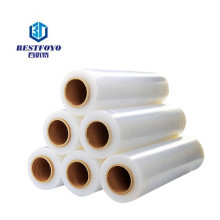 500mm x 300m pe plastic manual stretch wrap film rolls